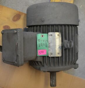 Toshiba 7 5hp 230 460v 3 phase 1740rpm Electric Ac Motor