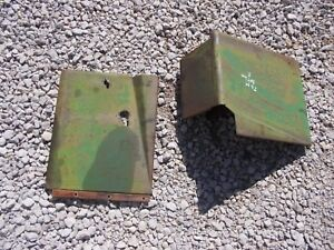 2 John Deere M Tractor Original Jd Battery Panel Cover Doors Door W Tool Box