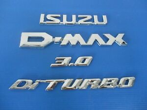 Isuzu D max Dmax Chrome Logo Decal Emblem Set si448
