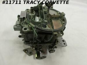1969 Corvette Rebuilt 7029207 Rochester Q Jet Carburetor 350 Manual Dated 3412