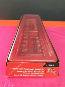 Snap On Tools 12piece Pakty405 1 2 Drive Simi Deep Sae Socket Tray Organizer