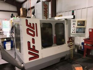 Used Haas Vf 0e Cnc Vertical Mill 1997 With Hrt 160 Fourth Axis Rotary Table