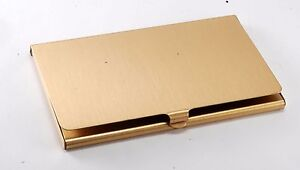 Rare digital Computer Gold Tone Business Card Holder Case New Old Stock