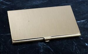 Rare st Elizabeth Hospital Brass Logo Business credit Card Holder Case Nos