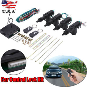 Universal 4 Door Car Central Power Door Lock Unlock Remote Kits 2 Keyless Entry