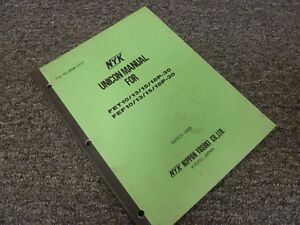 Nyk Fet18p 30 Fef10p 30 Fef13p 30 Forklift Unicon Shop Service Repair Manual