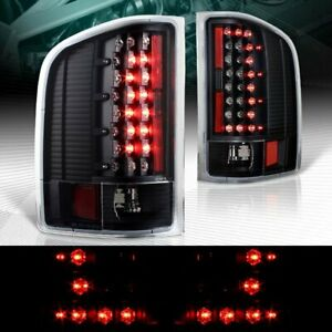 Black Housing C style Led Tail Lights Fit 07 14 Chevy Silverado 1500 2500 3500