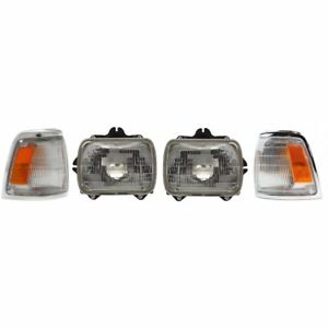 Headlight Kit For 1992 1995 Toyota Pickup Left And Right 2wd 4pc