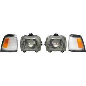 Headlight Kit For 1992 1995 Toyota Pickup Left And Right Side 2wd 4pc