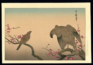 Utamaro Japanese Woodblock Print Hawk And Shrike