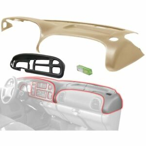Dash Cover Set For 1998 2001 Dodge Ram 1500 Saddle Tan With Black Cap 2pc