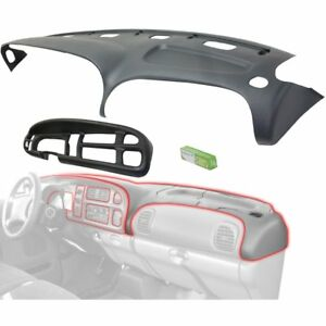 Dash Cover Set For 1998 2001 Dodge Ram 1500 Graphite Gray With Black Cap 2pc