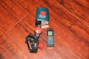 Bosch Professional Gll 2 Laser Level With Clamping Mount Glm 20 Laser Measure