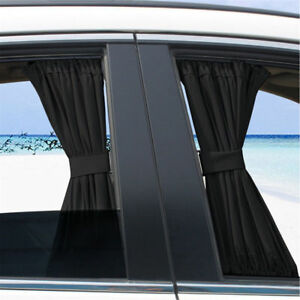2x Car Uv Protection Sun Shade Curtains Side Window Visor Mesh Cover Shield 50cm