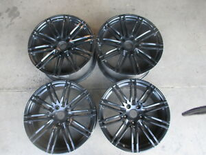 Four 2016 Porsche 911 991 Factory 20 Wheels Oem 67459 67460 Black