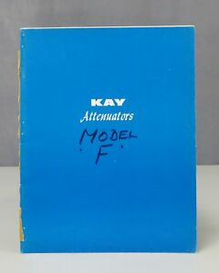 Kay Electric Attenuators In line Rotary Coaxial Instruction Manual Issue F 0959