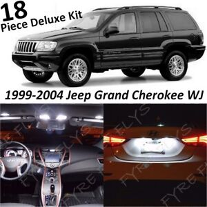 White Interior Led Lights Deluxe Pack For 1999 2004 Jeep Grand Cherokee Wj Tool