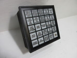 Saco Controls As552424od156156 Annunciator Status Alert Panel Display 5x5