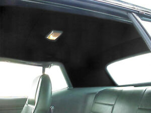 Headliner Black Tier Grain 1971 1973 Mustang Cougar Coupe