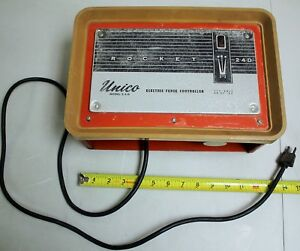 Tested 1974 unico fence Charger model 2 4 d rocket 24d 110 115 Volt electric