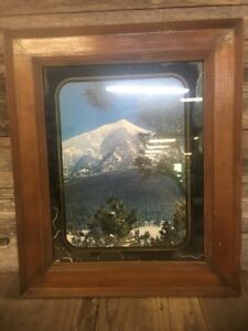 Vintage Solid Wood 11x14 Picture Frame Excellent Condition With Glass