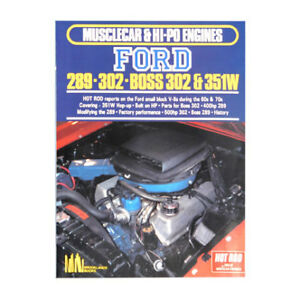 Book Musclecar Hipo Engines Ford 289 302 351w