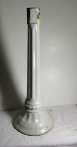 Antique Cast Iron White Porcelain Leg For Sink Stool Collectible Industrial Old