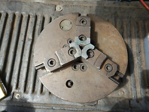 Older Cushman 10 3 Jaw Chuck For Metal Lathe With D1 6 Mount Machinist Tooling