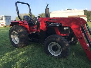 Mahindra 5530 Diesel Tractor 4x4 Synchro Shuttle Front End Loader 40 Hours
