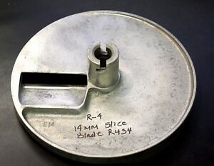 Commercial Robot Coupe Parts Disc R4 R434 Slicing 14mm Plate Great Shape Used