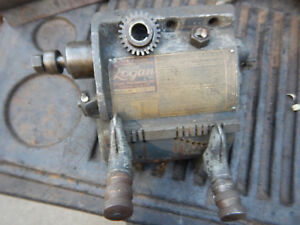 Vintage Logan 820 Metal Lathe Gearbox Assembly W Lead Screw Gear
