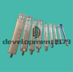 Glass Syringe Luer Lock Head From 1ml To 100ml Reusable Glass Injector Syringe
