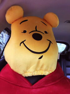 Winnie The Pooh Car Suv Van Accessory 1 Piece Head Rest Head Seat Cover Yellow
