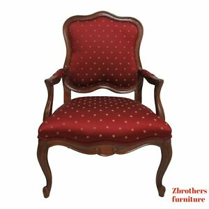 Ethan Allen Country French Lounge Living Room Chair Fireside