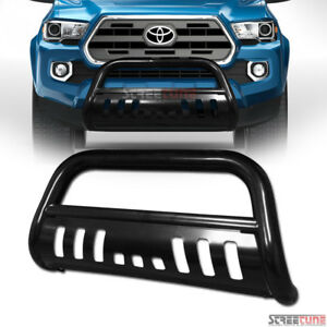 Blk Steel Bull Bar Brush Push Bumper Grill Grille Guard For 16 19 Toyota Tacoma