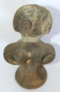 Ancient Biblical Egyptian Iron Age Pottery Clay Statue Figure Astarte Terracotta