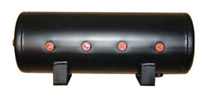 9 Gallon Steel Air Tank 8 Port Air Bag Suspension Train Horn Air Ride Kit