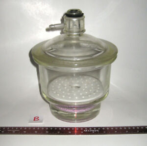Pyrex 6 inch Diameter Vacuum Desiccator Coors Perforated Porcelain Plate b