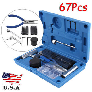 67pc Tire Repair Kit Diy Flat Tire Repair Car Truck Motorcycle Home Plug Patch