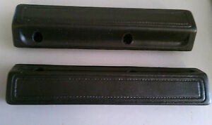 1966 70 Dodge Plymouth B body C body Charger 13 Inch Black Arm Rest Pads Mopar