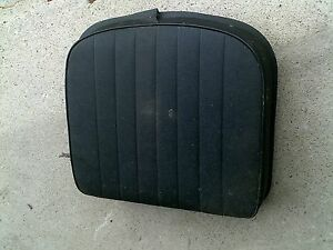 Farmall Series Tractor Deluxe Black Seat Metal Bottom Cushion Ih Ac Jd