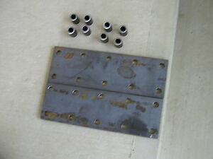 2 Farmall M H Sm Hv 460 Ih Tractor 10 Hole Fender Extension Bracket Plates s