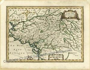 Poictou France 1648 1734 Mercator Antique Map 34267