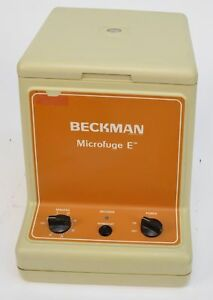 Beckman Microfuge Centrifuge Model E Category Number 348720 With Rotor