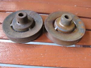 New Nos Flathead Ford V8 Water Pump Pulley Pair 1932 1934 1936 1938 1940