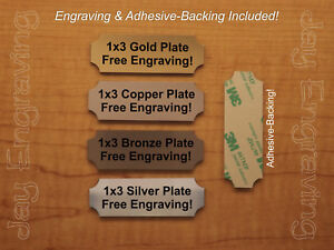 Custom Engraved 1x3 Brushed Finish Tag Sign Plate Personalized Trophy Plaque