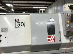 Used Haas Sl 30t Cnc Lathe 2008 Tailstock 10 Chuck Chip Tool Presetter