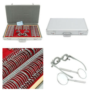 266pcs Pro Optical Lens Optometry Rim Case Kit W Optometry Test Trial Frame