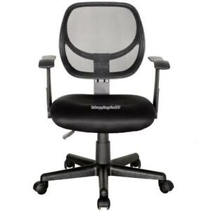 Ergonomic Mesh Mid back Office Chair Computer Desk Task Executive With Armrest