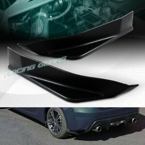 Sti Style Blk Rear Bumper Aero Side Aprons Lip Fit 13 20 Subaru Brz scion Frs